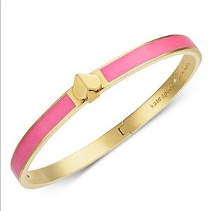 Kate Spade Gold Enamel Pink Bracelet New